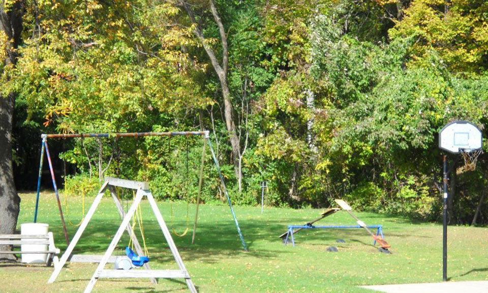Kid's Playground at Pine Lane Campground